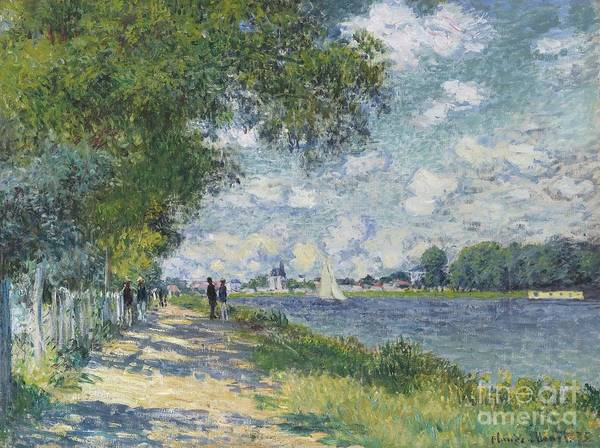 Wall Art - Painting - La Seine A Argenteuil by Celestial Images