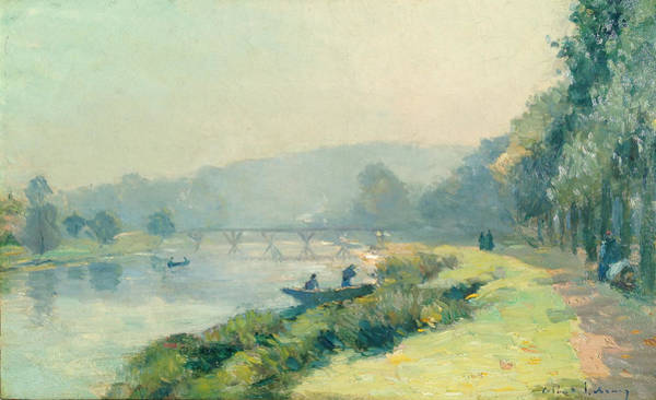 Wall Art - Painting - La Seine by Celestial Images