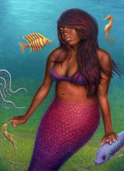Painting - La Sirena Tanetra by James W Johnson