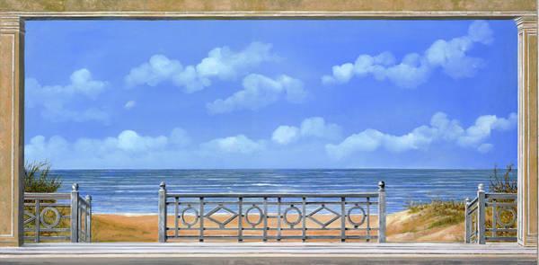 Wall Art - Painting - La Spiaggia Sotto Le Nuvole by Guido Borelli