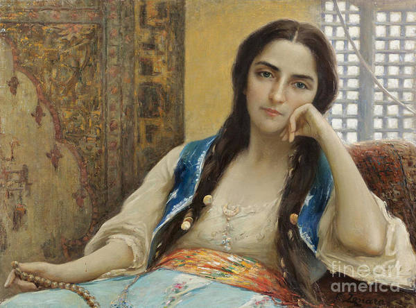 Fausto Zonaro Painting - La Sultana by Celestial Images