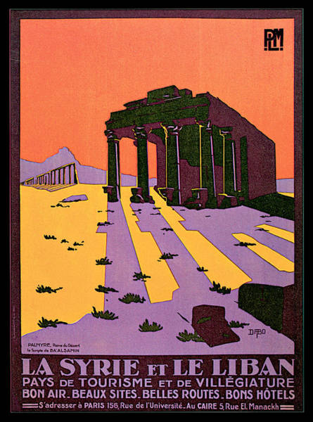 Painting - La Syre Et Le Liban Palmyre by Geoffroy d Aboville