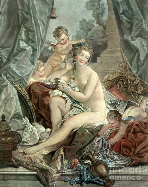 Francois Boucher Painting - La Toilette De Venus  The Toilet Of Venus by Francois Janinet