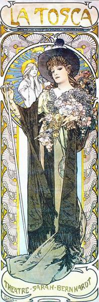 Painting - La Tosca by Alphonse Mucha