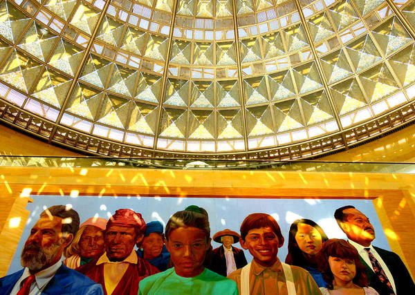 Photograph - La Union Station Mural by Jeff Lowe