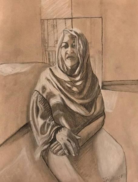 Drawing - La Vecina by Thelma Delgado