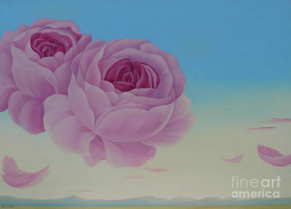 Wall Art - Painting - La Vie En Rose by Magdolna Ban