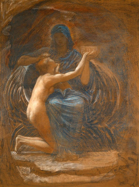 William Blake Drawing - La Vierge Consolatrice by William Blake Richmond