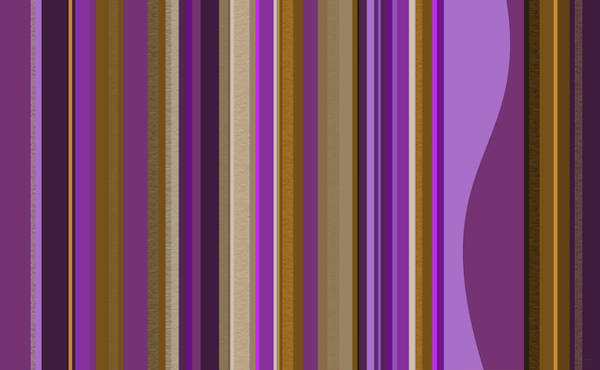 Mural Digital Art - Large Purple Abstract - Two by Val Arie
