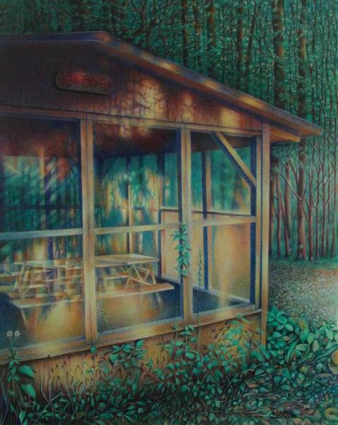 Drawing - Labor Day Lights by Pamela Clements