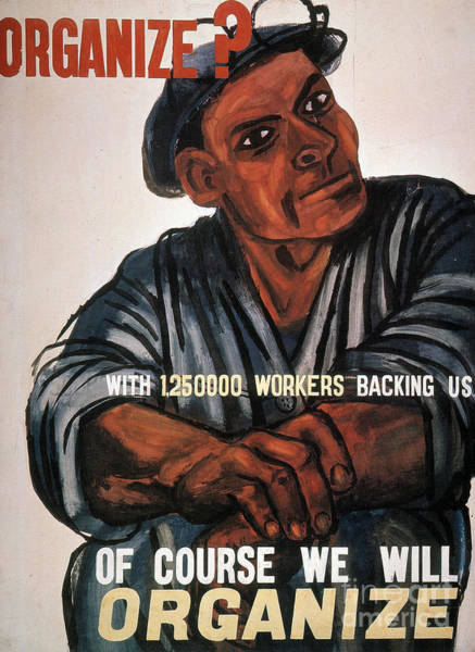 Wall Art - Photograph - Labor Poster, 1930s by Granger