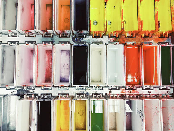 Diagnosis Wall Art - Photograph - Laboratory Tissue Stains by Tom Gowanlock