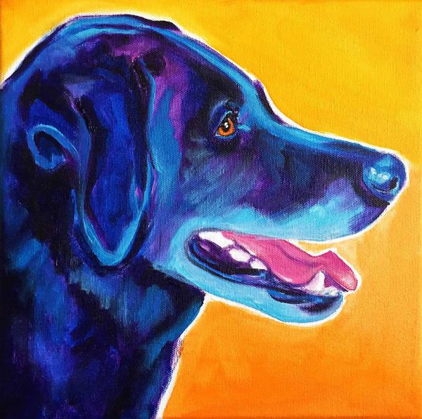 Wall Art - Painting - Labrador - Kenobi Smile by Alicia VanNoy Call