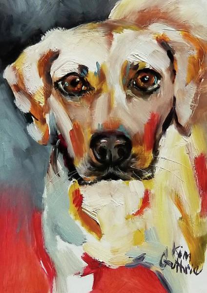 Wall Art - Painting - Labrador Retriever Dog Painting by Kim Guthrie