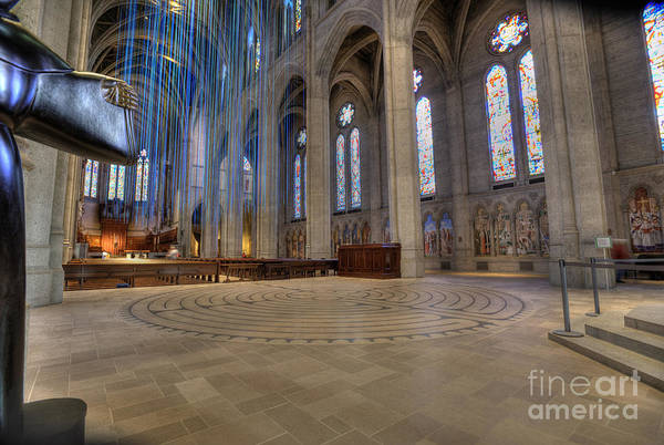 Grace Cathedral Photograph - Labyrinth At Grace by David Bearden