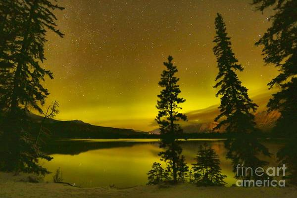 Photograph - Lac Edith Northern Lights by Adam Jewell