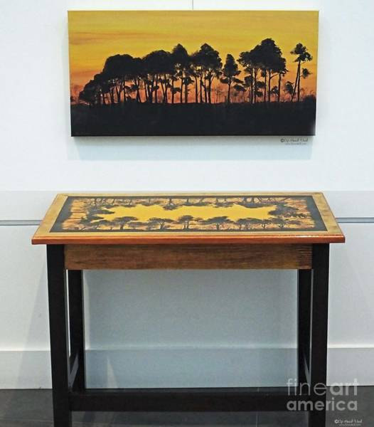 Painting - Lacassine Sunset Painting And Desk by Lizi Beard-Ward
