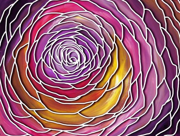 Painting - Lace Rose Abstract by Barbara St Jean