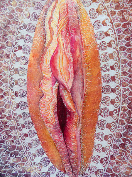 Womb Painting - Lace Yoni by Katie Lloyd