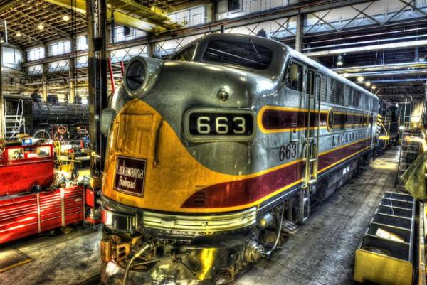 Photograph - Lackawanna Rr 663 by Paul W Faust - Impressions of Light