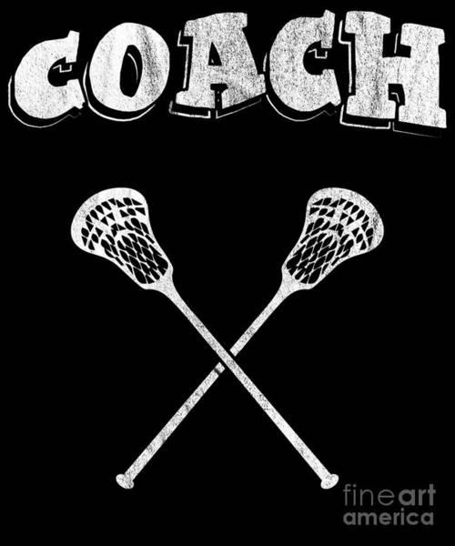 Lax Digital Art - Lacrosse Coach Lacrosse Player Lax Love Stick by Henry B