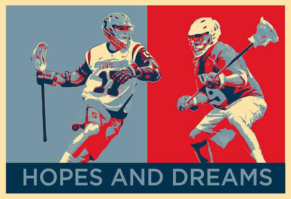 Lax Digital Art - Lacrosse Pop Art by Scott Melby