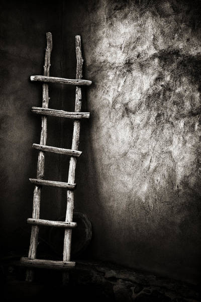 Mexico Photograph - Ladder In Truchas New Mexico by Carol Leigh