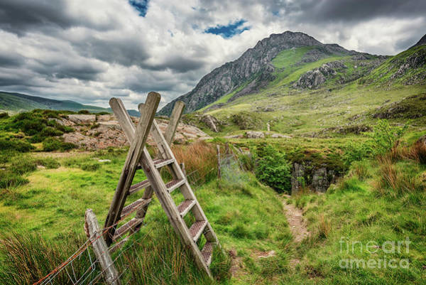 Photograph - Ladder Stile To Tryfan by Adrian Evans