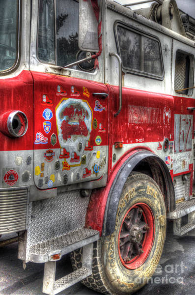 Photograph - Ladder Truck 152 - In Remembrance Of 9-11 by Eddie Yerkish
