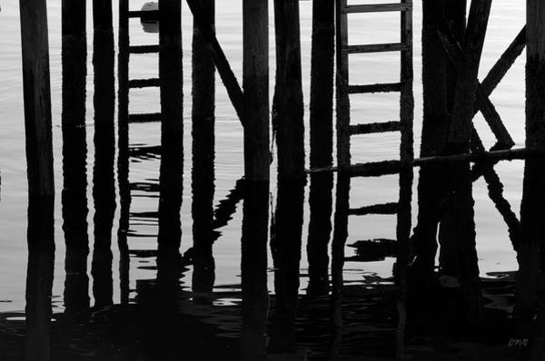 Photograph - Ladders And Pilings Gloucester Harbor by Dave Gordon