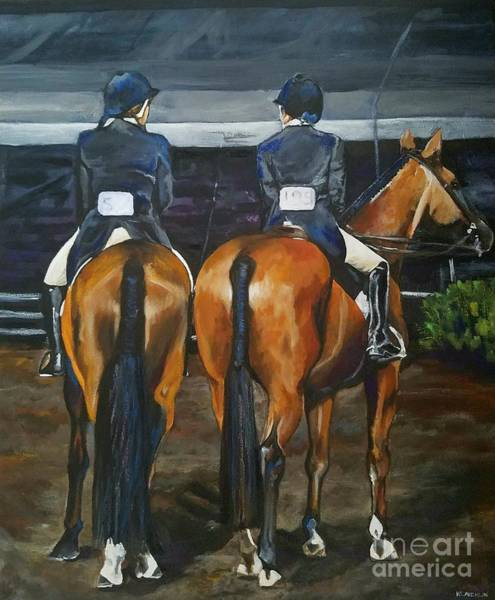 Painting - Ladies At Sussex Hunt Night by Kathy Laughlin
