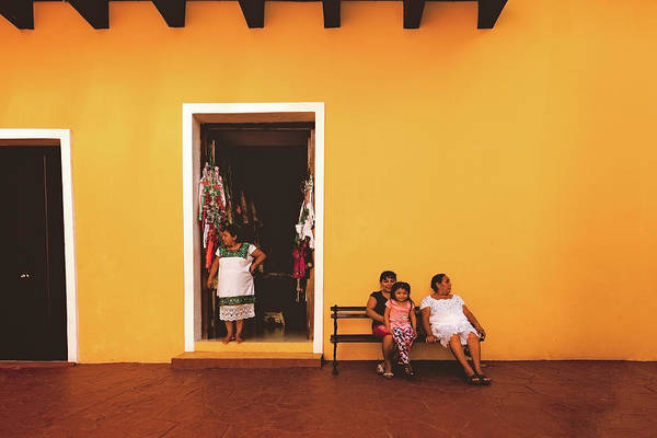Photograph - Ladies In Valladolid by Marji Lang