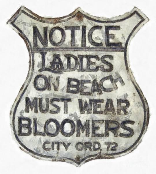 Digital Art - Ladies Must Wear Bloomers by Edward Fielding
