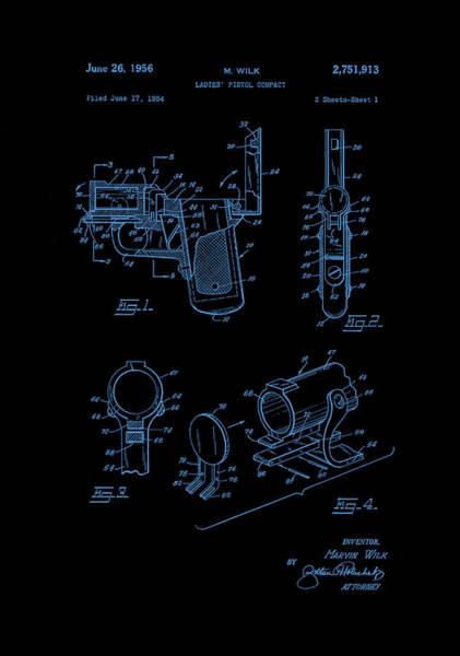 Photograph - Ladies Pistol Compact Patent Art by Lesa Fine