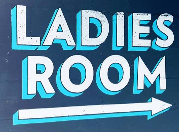 Photograph - Ladies Room Negative by Rob Hans