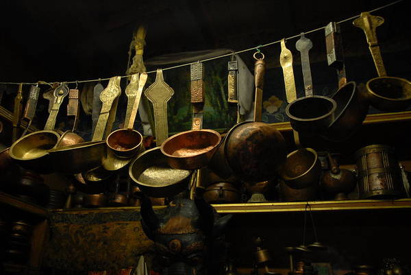 Brass Photograph - Ladles Of Tibet by Donna Caplinger