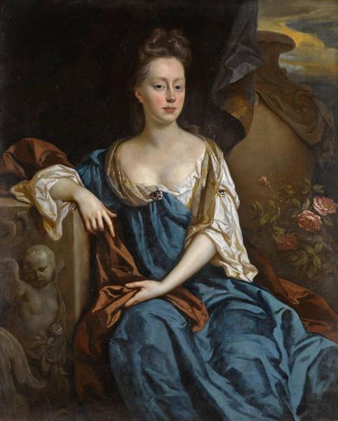 Wall Art - Painting - Lady Alice Brownlow Nee Sherard Three-quarter-length by John Riley