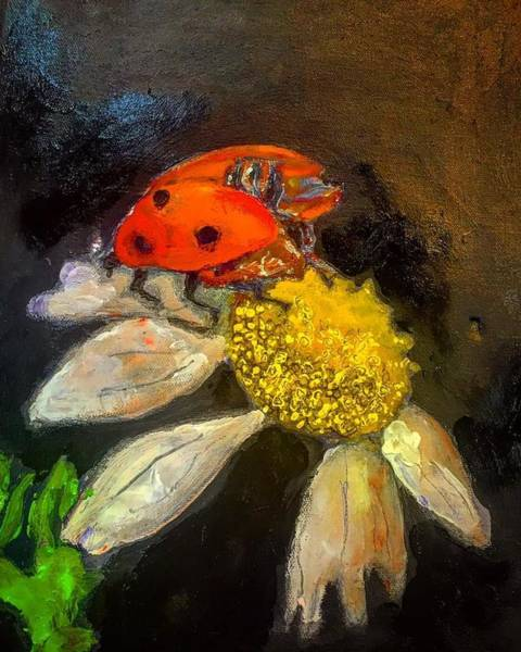 Painting - Lady Bird  by Dilip Sheth