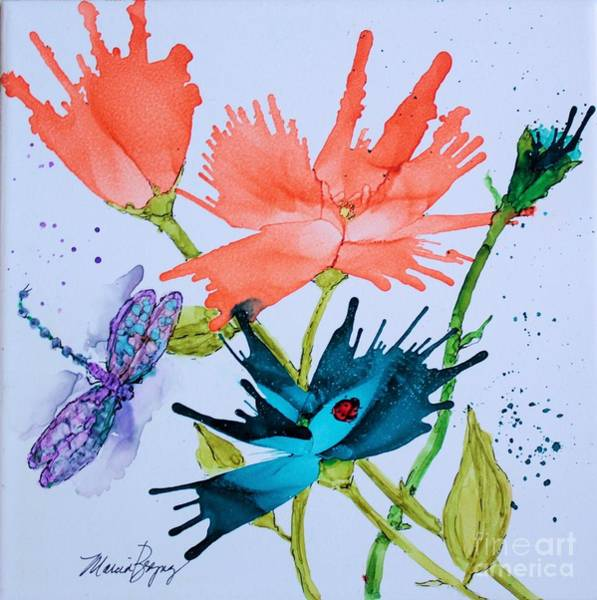 Painting - Lady Bug And Dragonfly by Marcia Breznay
