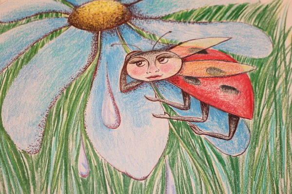 Lady Bug Drawing - Lady Bug by Lisa Hoben