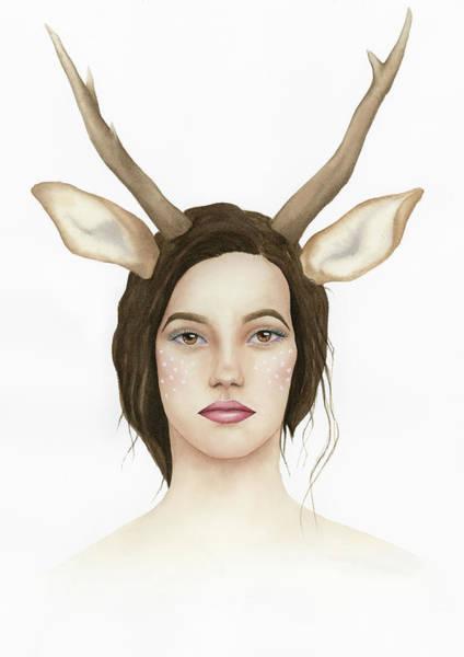 Painting - Lady Deer by Zapista Zapista