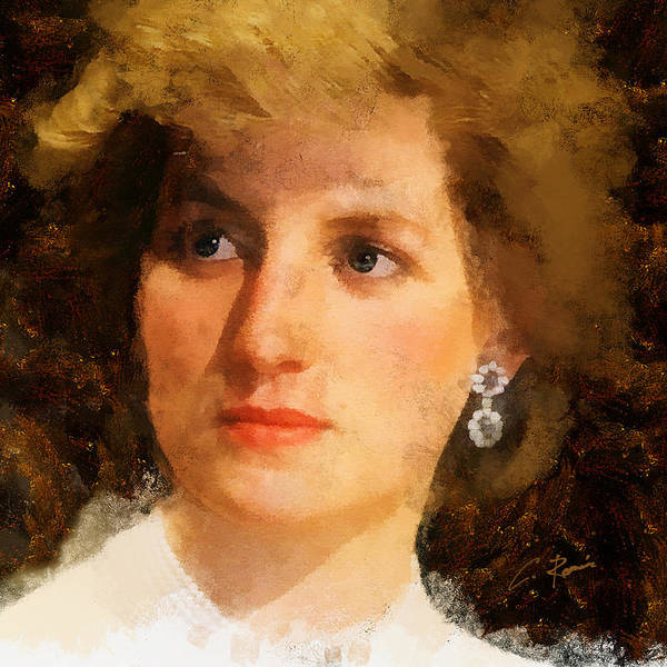 Digital Art - Lady Diana by Charlie Roman
