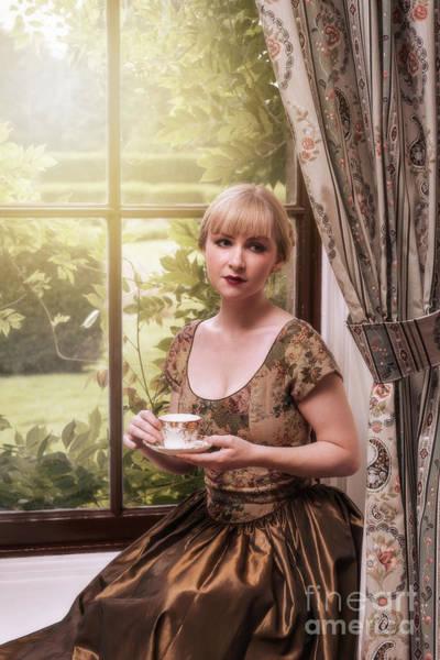 Wall Art - Photograph - Lady Drinking Tea by Amanda Elwell