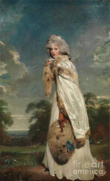 Wall Art - Painting - Lady Elizabeth Farren Actress Later Countess Of Derby by Celestial Images