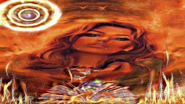 Digital Art - Lady Fire Dream by Swedish Attitude Design