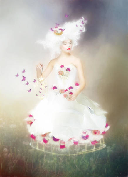 Wall Art - Digital Art - Lady Flutterby by Karen Koski