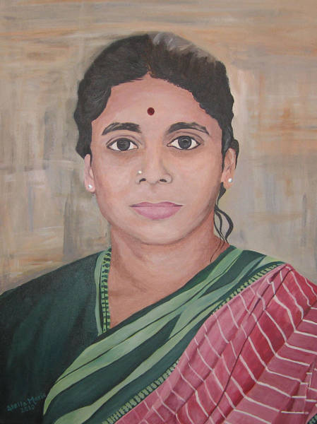 Painting - Lady From India by Stella Sherman