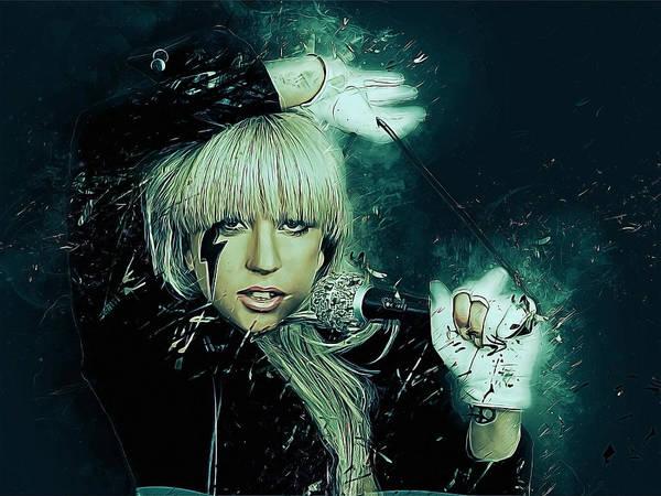 Dive Bar Digital Art - Lady Gaga by Afterdarkness