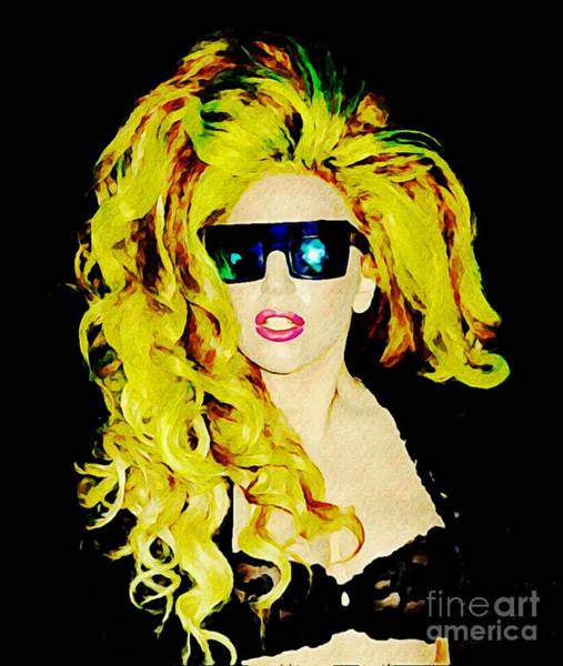 Lgbtq Digital Art - Lady Gaga In  Shades by John Malone