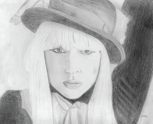 Drawing - Lady Gaga by Pat Moore